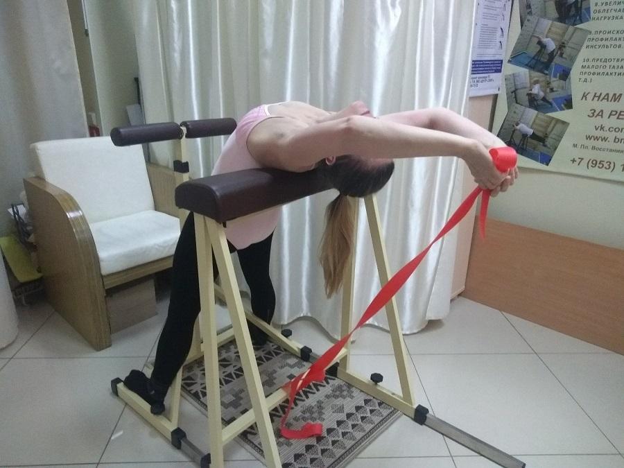 Снятие болей в спине, вытяжения позвоночника, расслабление мышечных зажимов